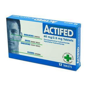 Actifed 60mg/2.5mg Tablets 12 Pack