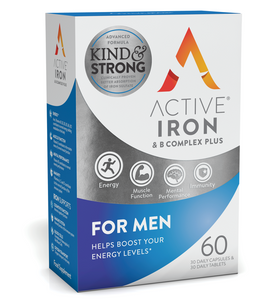 Active Iron & B Complex Plus for Men - 60 Pack