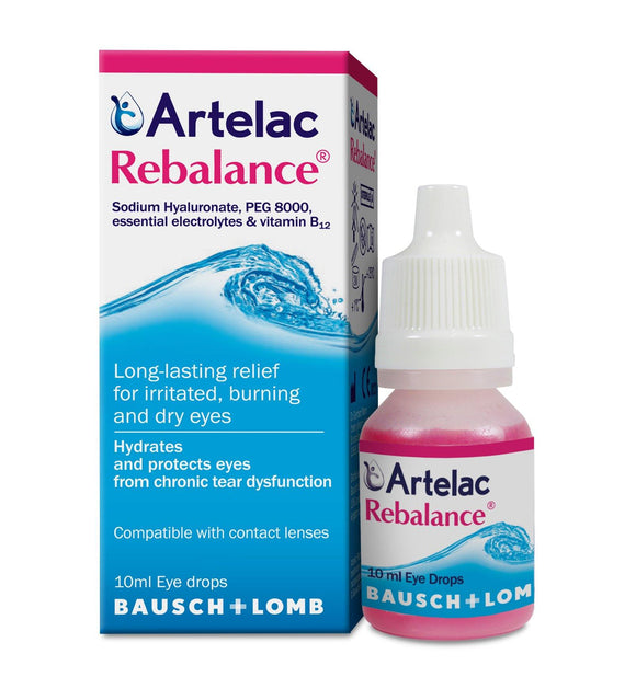 Artelac - Rebalance Long-Lasting Relief For Irritated Dry Eyes - 10ml - Medipharm Online - Cheap Online Pharmacy Dublin Ireland Europe Best Price