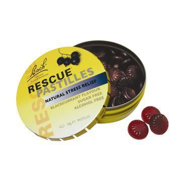 Bach - Rescue Remedy Pastilles - Blackcurrant - 50g - Medipharm Online - Cheap Online Pharmacy Dublin Ireland Europe Best Price