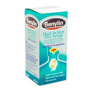 Benylin - Dual Action Dry Syrup - 100ml - Medipharm Online - Cheap Online Pharmacy Dublin Ireland Europe Best Price