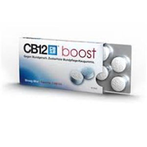 CB12 - Boost Chewing Strong Mint Gum - 10 Pieces - Medipharm Online - Cheap Online Pharmacy Dublin Ireland Europe Best Price