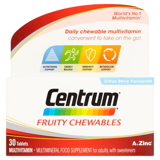Centrum - Fruity Chewables Citrus Berry Flavoured - 30 Pack - Medipharm Online - Cheap Online Pharmacy Dublin Ireland Europe Best Price