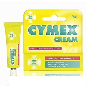 Cymex Cream For Cold Sores Dry Cracked Lips 5g