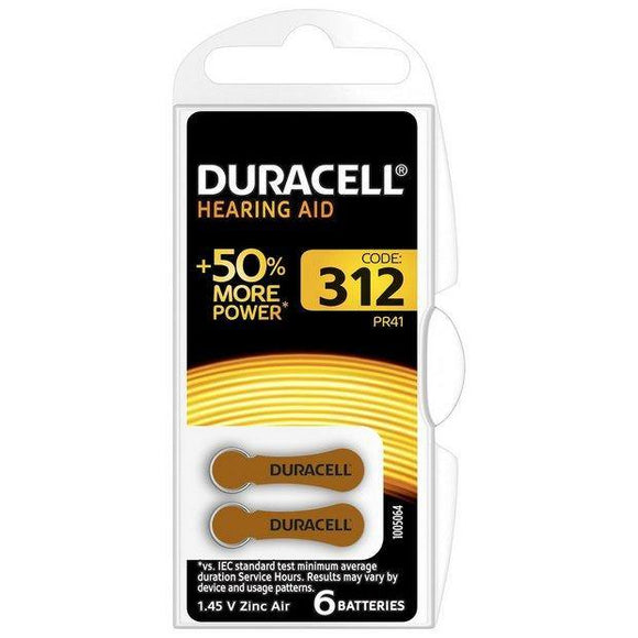 Duracell - Activair Hearing Aid Battery 312 Brown - 6 Pack - Medipharm Online - Cheap Online Pharmacy Dublin Ireland Europe Best Price
