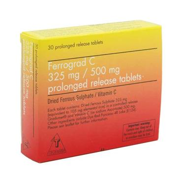 Ferrograd - C 30 Prolonged Release Tablets - Medipharm Online - Cheap Online Pharmacy Dublin Ireland Europe Best Price