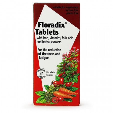 Floradix - Tablets With Iron Vitamins Folic Acid And Herbal Extracts - 84 Pack