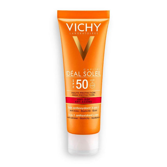 Vichy - IDEAL SOLEIL ANTI-AGE SPF 50+ - 50ML - Medipharm Online - Cheap Online Pharmacy Dublin Ireland Europe Best Price