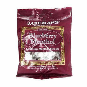 Jakemans Blueberry Menthol Soothing Menthol Sweets 100g - Medipharm Online - Cheap Online Pharmacy Dublin Ireland Europe Best Price