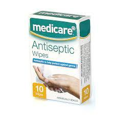 Medicare Antiseptic Wipes 10 Pack - Medipharm Online - Cheap Online Pharmacy Dublin Ireland Europe Best Price