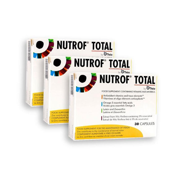 Nutrof Total - 3 Pack of 30 capsules - 3 Month Supply - Medipharm Online - Cheap Online Pharmacy Dublin Ireland Europe Best Price