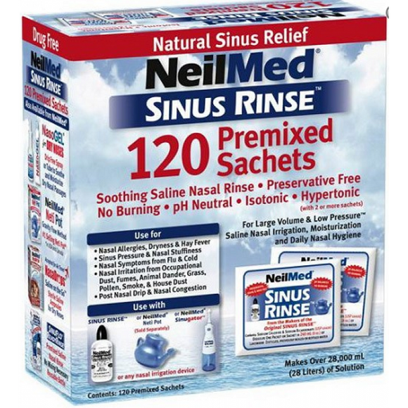 NeilMed Sinus Rinse 120 Premixed Sachets - Medipharm Online - Cheap Online Pharmacy Dublin Ireland Europe Best Price
