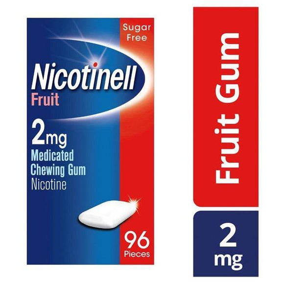 Nicotinell 2mg Fruit Gum 96 Pack - Medipharm Online - Cheap Online Pharmacy Dublin Ireland Europe Best Price