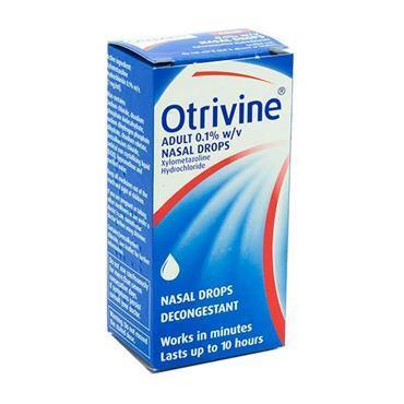 Otrivine Adult Nasal Drops 0.1% Xylometazoline 10ml - Medipharm Online - Cheap Online Pharmacy Dublin Ireland Europe Best Price