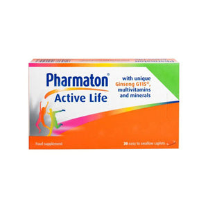 Pharmaton Active Life with Ginseng G115 Multivitamins & Minerals 30 Caps - Medipharm Online - Cheap Online Pharmacy Dublin Ireland Europe Best Price