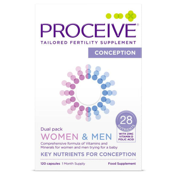 Proceive Advanced Fertility Supplement Women & Men Dual Pack 120 Capsules
