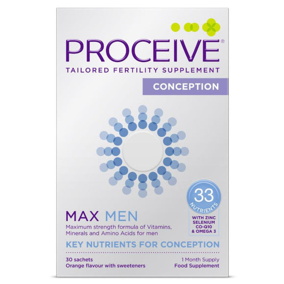 Proceive Advanced Fertility Supplement Men MAX 30 Sachets