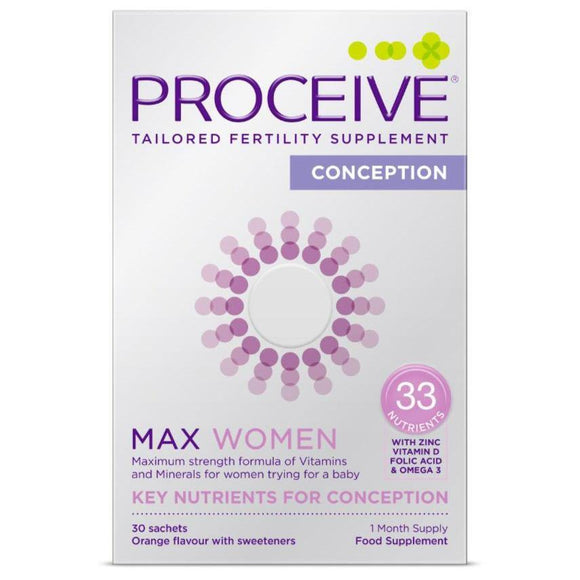 Proceive Advanced Fertility Supplement Women MAX 30 Sachets - Medipharm Online
