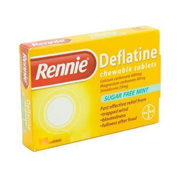 Rennie Deflatine Chewable Sugar Free Mint Tablets 18 Pack - Medipharm Online - Cheap Online Pharmacy Dublin Ireland Europe Best Price