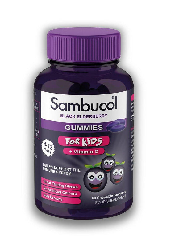 Sambucol Gummies For Kids - 60 chewable gummies - Medipharm Online - Cheap Online Pharmacy Dublin Ireland Europe Best Price