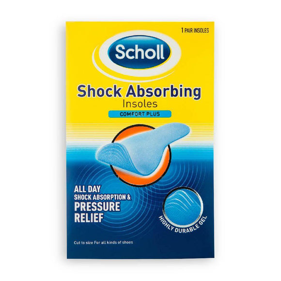 Scholl -Shock Absorbing Insoles - Medipharm Online - Cheap Online Pharmacy Dublin Ireland Europe Best Price