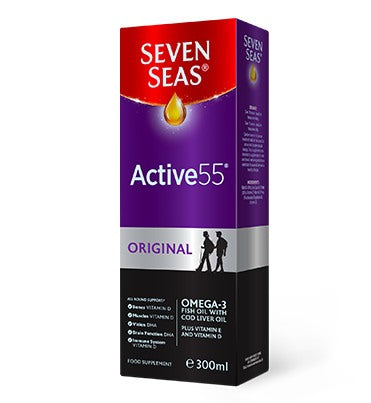 Seven Seas Active 55 Original Liquid 300ml - Medipharm Online - Cheap Online Pharmacy Dublin Ireland Europe Best Price