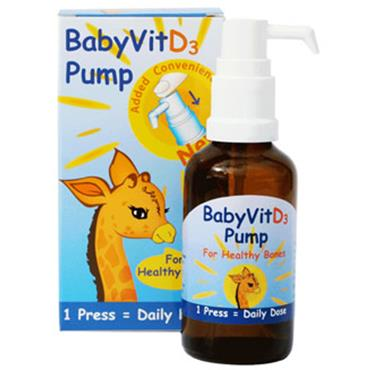 Shield Health BabyVitD3 Pump for Healthy Bones 28ml
