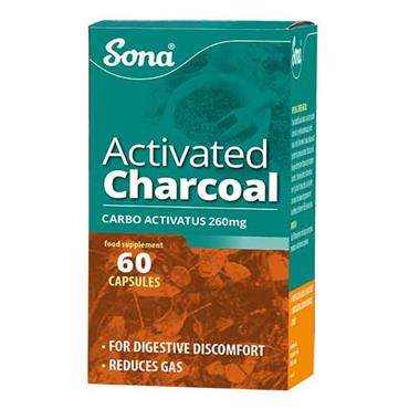 Sona Activated Charcoal 60 Capsules - Medipharm Online - Cheap Online Pharmacy Dublin Ireland Europe Best Price