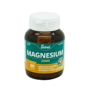 Sona Magnesium 250mg 60 Tablets - Medipharm Online - Cheap Online Pharmacy Dublin Ireland Europe Best Price