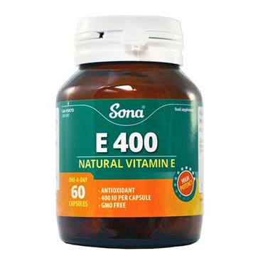 Sona Natural Vitamin E 400IU 60 Capsules - Medipharm Online - Cheap Online Pharmacy Dublin Ireland Europe Best Price