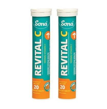 Sona Revital C 1000mg Vitamin C Twin Pack - Medipharm Online - Cheap Online Pharmacy Dublin Ireland Europe Best Price