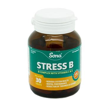 Sona Stress B Complex with C and E 30 Tablets - Medipharm Online - Cheap Online Pharmacy Dublin Ireland Europe Best Price