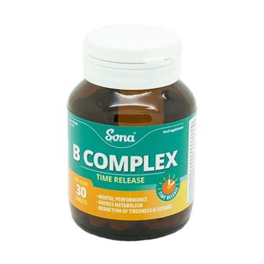 Sona Time Release B-Complex 30 Tablets - Medipharm Online - Cheap Online Pharmacy Dublin Ireland Europe Best Price