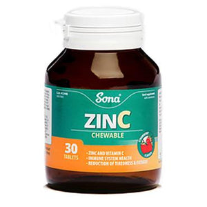 Sona Zinc Chewable 30 Tablets