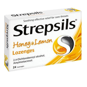 Strepsils Honey & Lemon Lozenges 24 Pack - Medipharm Online - Cheap Online Pharmacy Dublin Ireland Europe Best Price