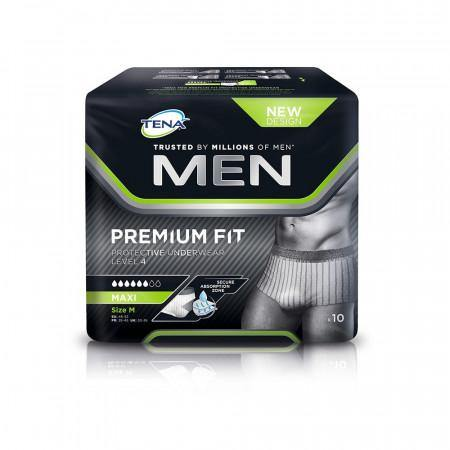 Tena Men Premium Fit Protective Underwear Level 4 Maxi 10 Pack - Medium - Medipharm Online