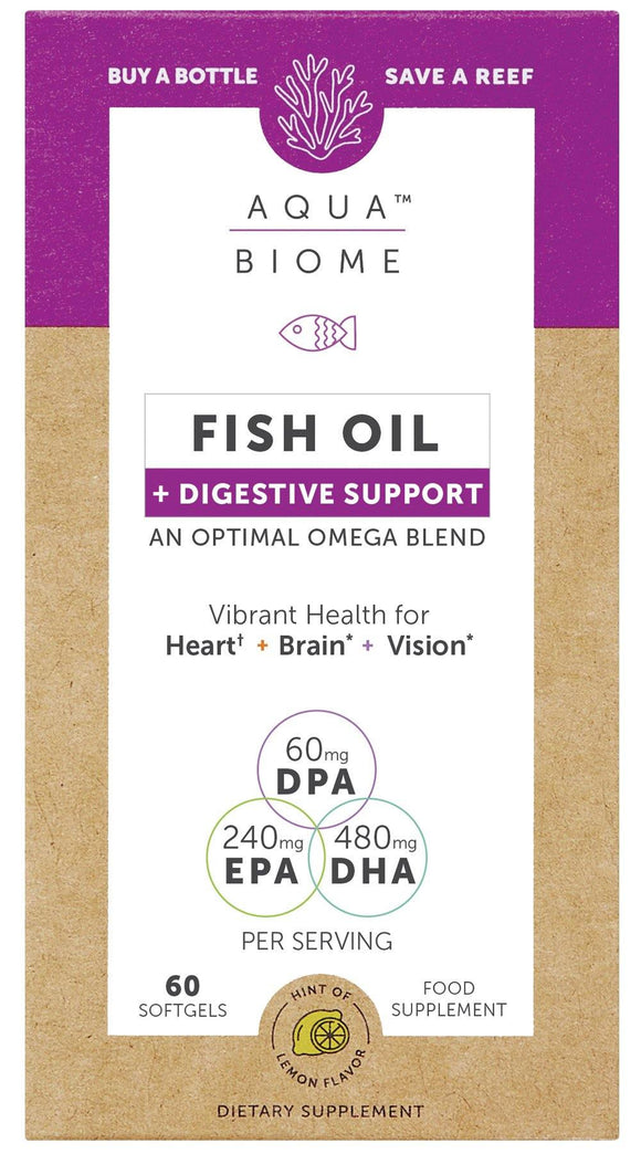 Aqua Biome FISH OIL + BOSWELLIA PHYTOSOME® FOR DIGESTIVE RELIEF 60s - Medipharm Online