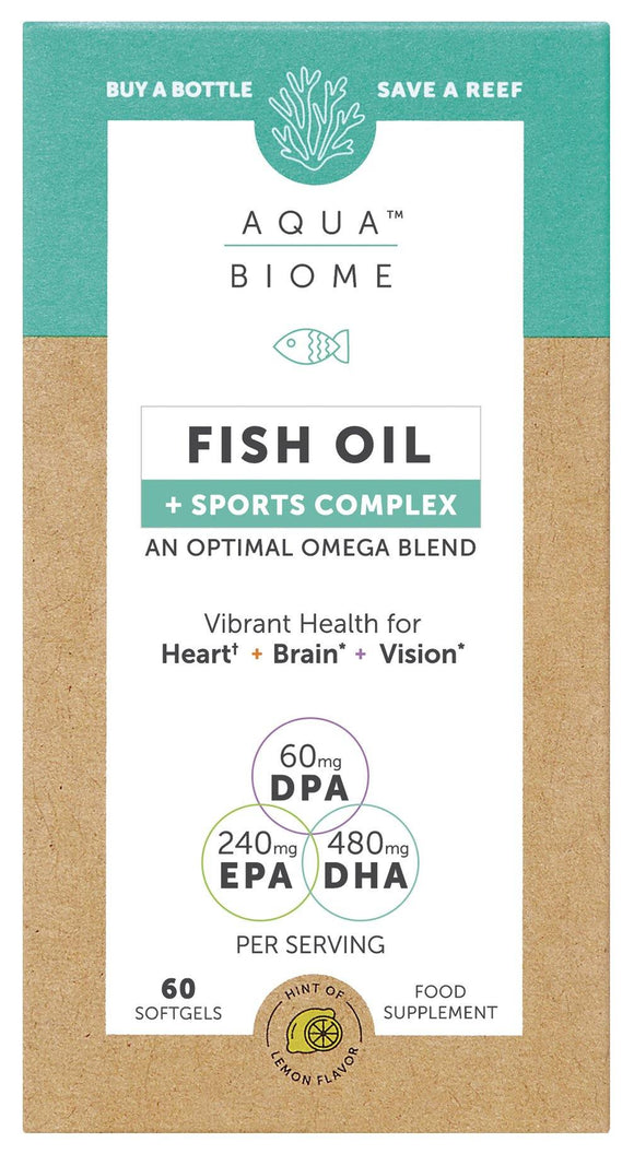 Aqua Biome FISH OIL + QUERCETIN PHYTOSOME® SPORTS PERFORMANCE 60s - Medipharm Online