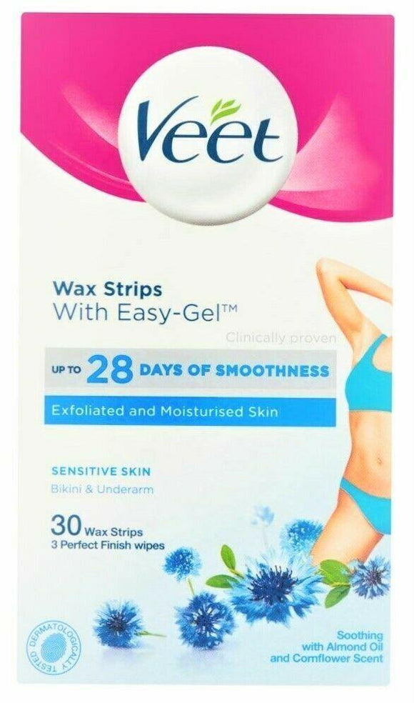 Veet Bikini Wax Strips Sensitive 30s