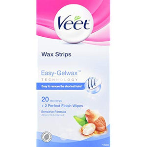 Veet-  Wax Strips For Sensitive Skin - 20 Pack - Medipharm Online - Cheap Online Pharmacy Dublin Ireland Europe Best Price