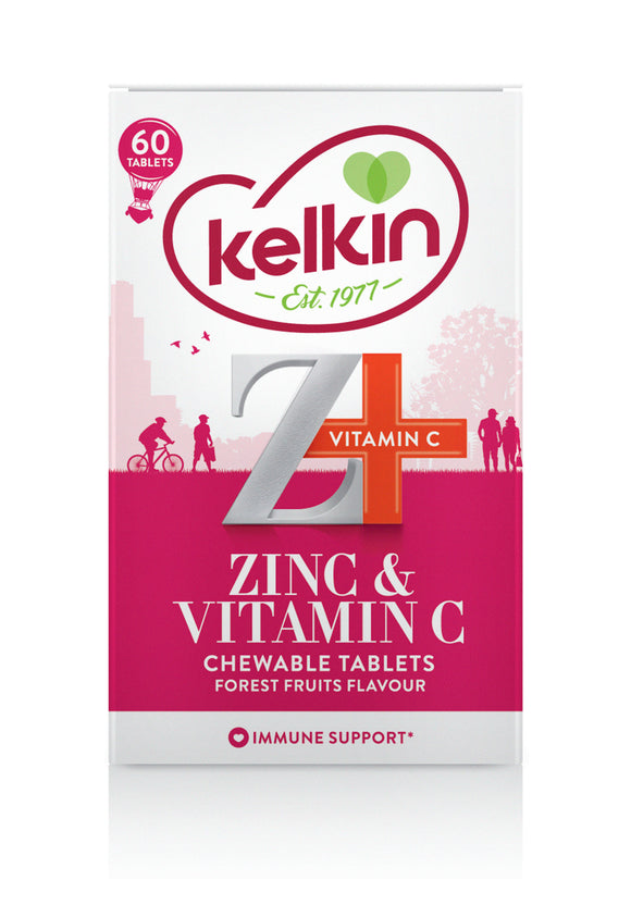 Kelkin Zinc and Vitamin C Chewable Tablets 60 Pack