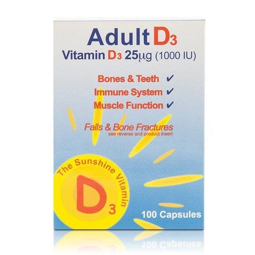 Adult D3 100 Capsules - Medipharm Online - Cheap Online Pharmacy Dublin Ireland Europe Best Price