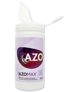 Azo Max Disinfectant Wipes 200 Pack