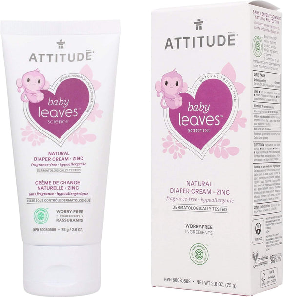 Attitude Baby Leaves Diaper Cream 75g