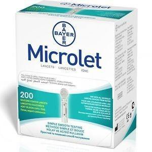 Bayer - Microlet - 200 Lancets - Medipharm Online - Cheap Online Pharmacy Dublin Ireland Europe Best Price