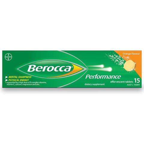 Berocca Performance Orange Flavoured Effervescent Tablets