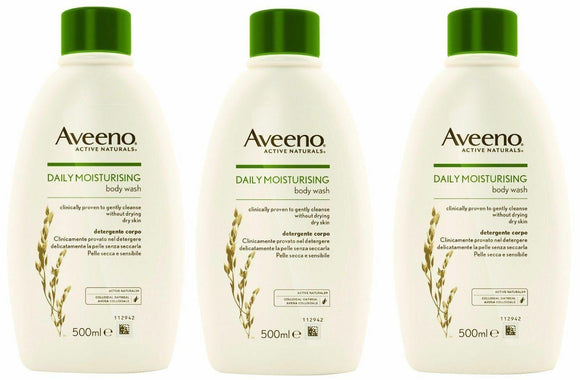 Aveeno Daily Moisturising Body Wash 500ml x 3 PACK