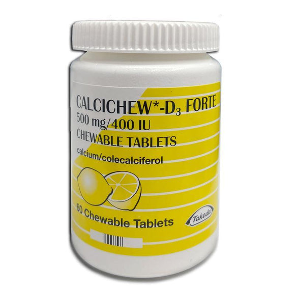 Calcichew D3 Forte Chewable Tablets 60 Pack - Medipharm Online