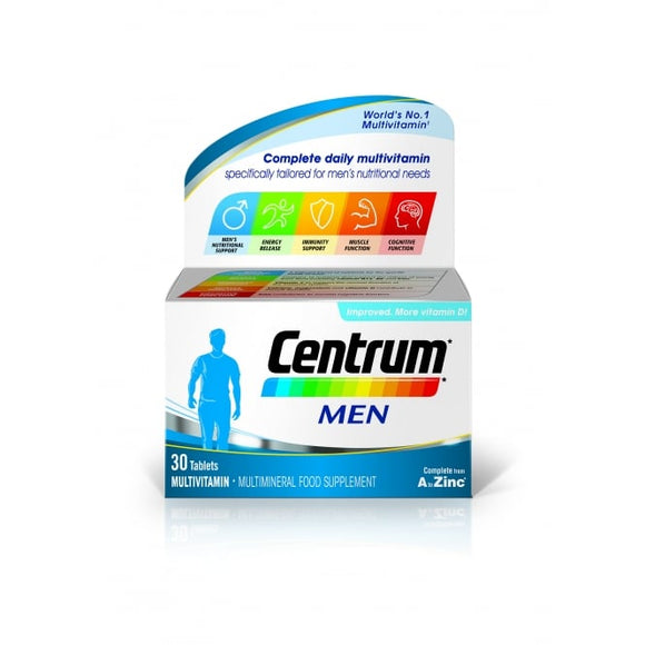 Centrum - Men Multivitamins - 30 Pack - Medipharm Online - Cheap Online Pharmacy Dublin Ireland Europe Best Price