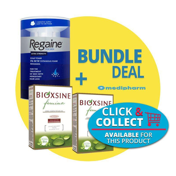 Bundle Deal - Regaine Foam 3 Months Supply + Bioxsine Femina Shampoo & Conditioner - Medipharm Online